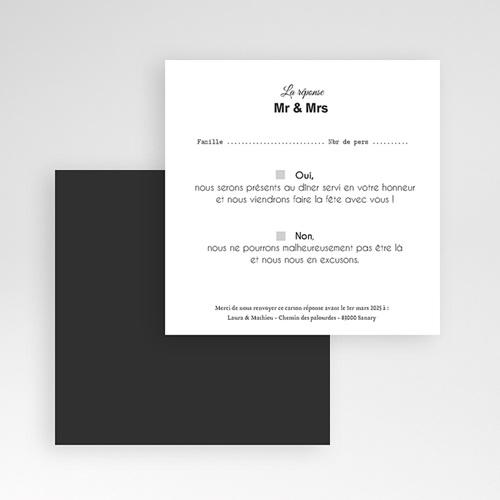 Cartons réponse Mr & Mrs gratuit