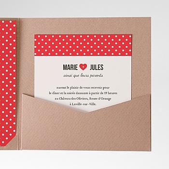 Carte d'invitation rouge vintage à personnaliser