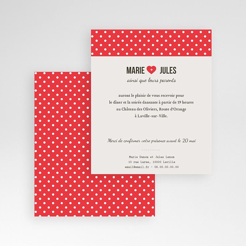 Carte d'invitation Rouge Vintage gratuit