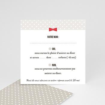 Création cartons réponse rouge vintage