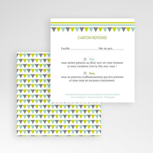 Cartons réponse Jolis triangles gratuit