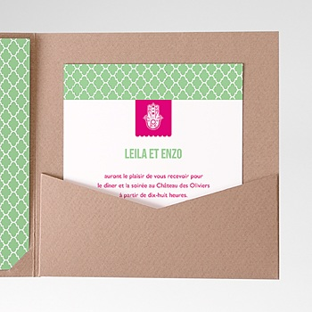 Carte d'invitation thé à la menthe personnalisable