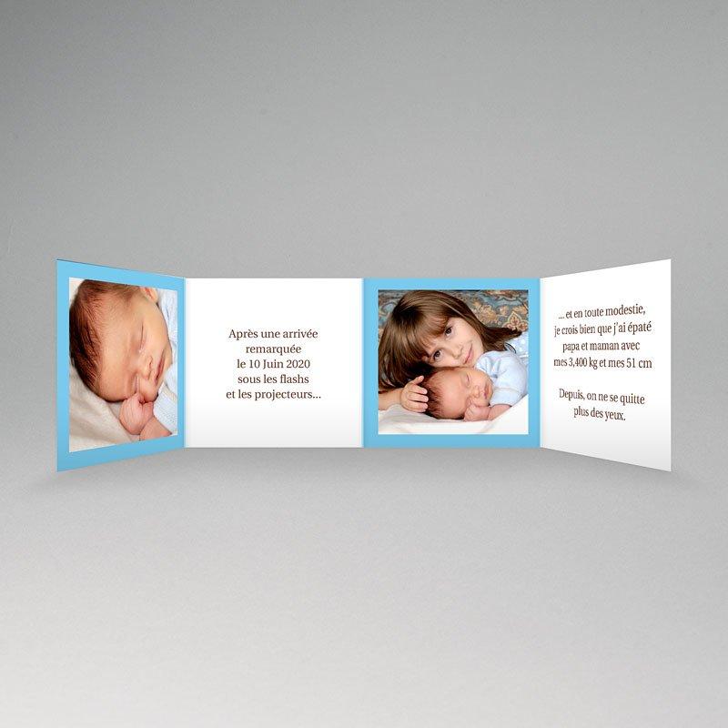 Faire-Part Naissance Garçon - Ma carte bleue de Bébé 3763 thumb