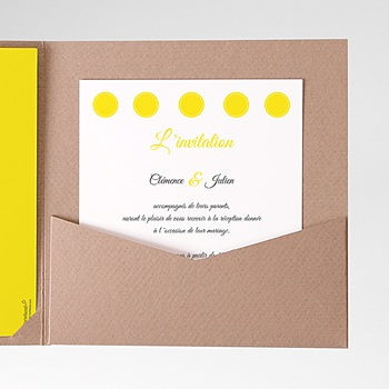 Carte d'invitation Citron personnalisable
