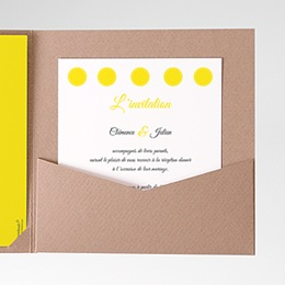 Carte d'invitation Citron