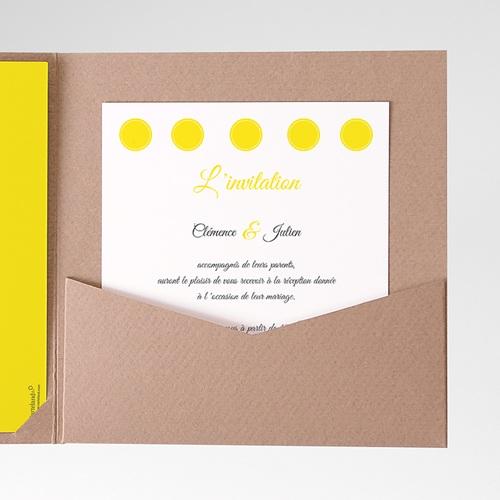 Carte d'invitation Citron