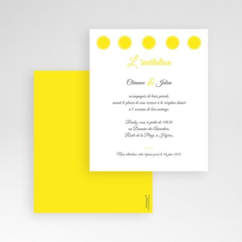 Carte d'invitation Citron gratuit