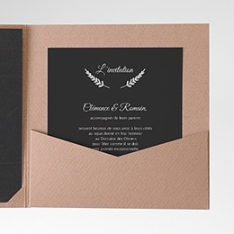 Invitations Ardoise chic