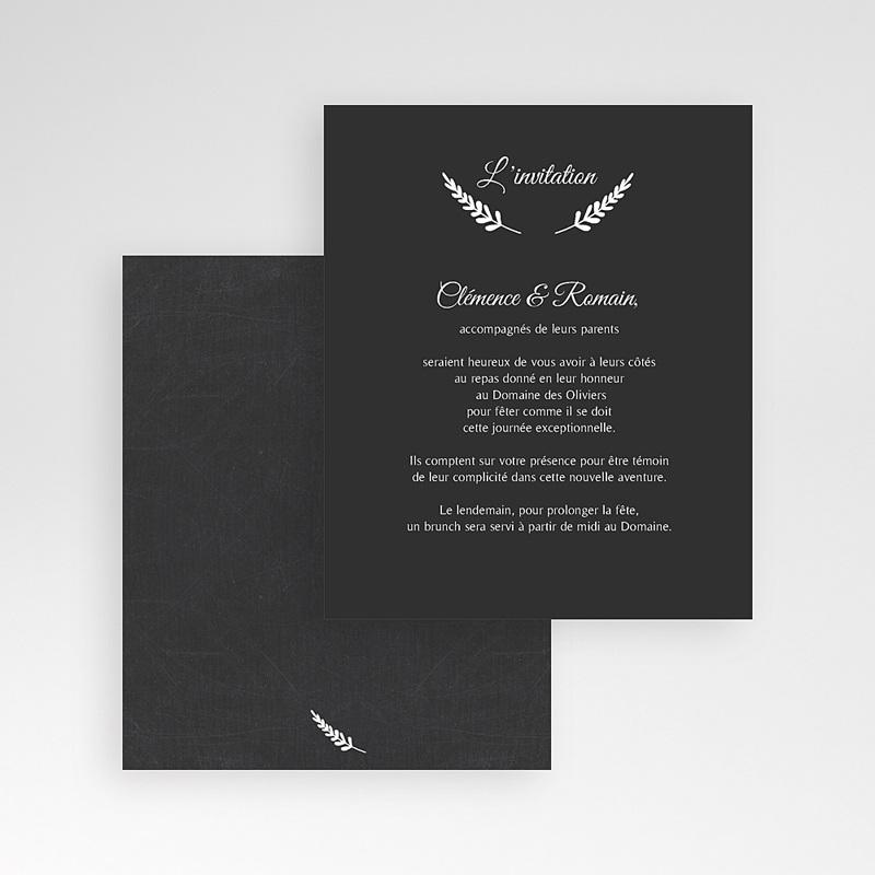 Carte d'invitation Ardoise chic gratuit