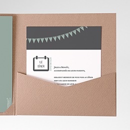 Carte d'invitation Typo Déco