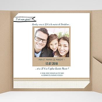 Faire-Part Mariage Pochette carré - Belle famille - 0