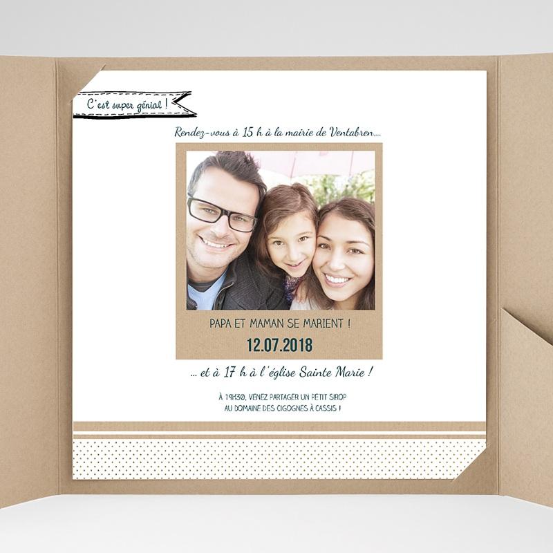 Faire-Part Mariage Pochette carré - Belle et grande famille 37788 thumb
