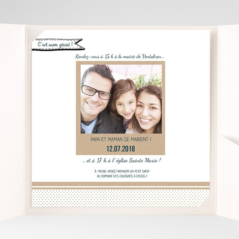 Faire-Part Mariage Pochette carré - Belle et grande famille 37789 thumb