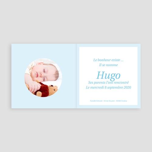 Faire-Part Naissance Garçon - Hugo 3779 thumb