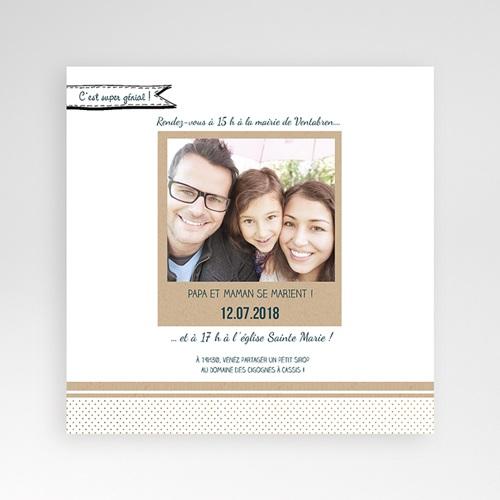 Faire-Part Mariage Pochette carré - Belle et grande famille 37791 thumb