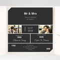 Faire-Part Mariage Pochette carré Mr & Mrs So-and-so pas cher