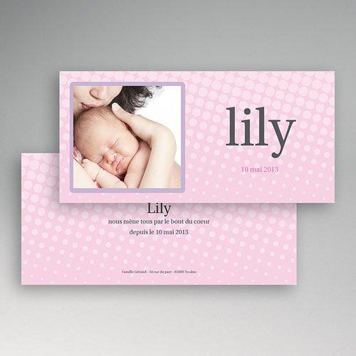 Faire-Part Naissance Fille - Lily Rose 3783 thumb