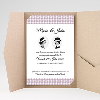 Faire Part Mariage rectangulaire - Lady and Gentleman - 0