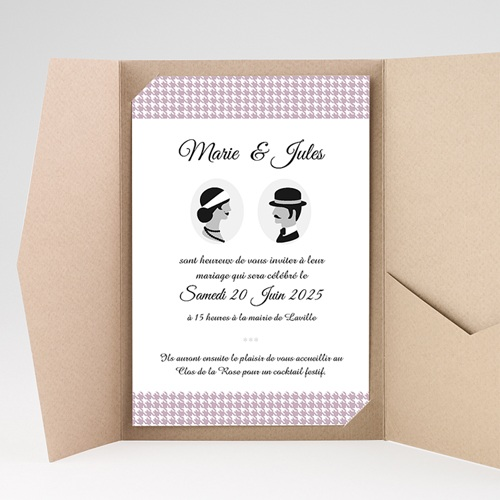 Faire Part Mariage Pochette rectangulaire - The Artist Couple 37872 preview