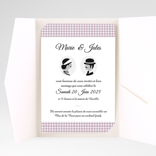 Faire Part Mariage Pochette rectangulaire - The Artist Couple 37873 preview