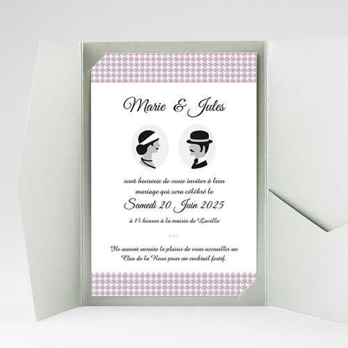 Faire Part Mariage Pochette rectangulaire - The Artist Couple 37874 preview