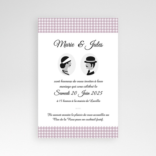 Faire Part Mariage Pochette rectangulaire - The Artist Couple 37875 preview