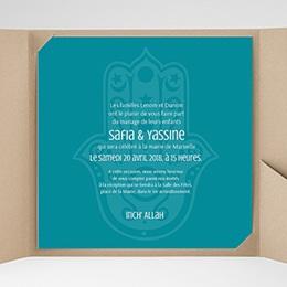 Faire-Part Mariage Pochette carré - Kashmir - 0