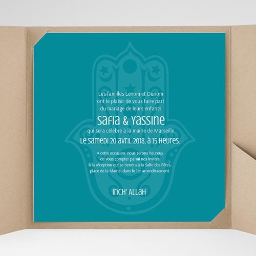 Faire-Part Mariage Pochette carré - Kashmir 37932 thumb