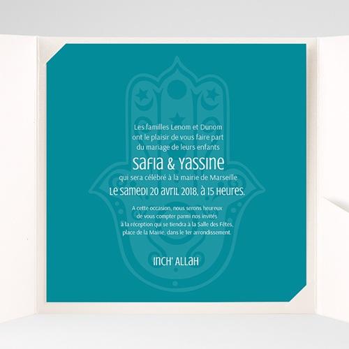 Faire-Part Mariage Pochette carré - Kashmir 37933 thumb