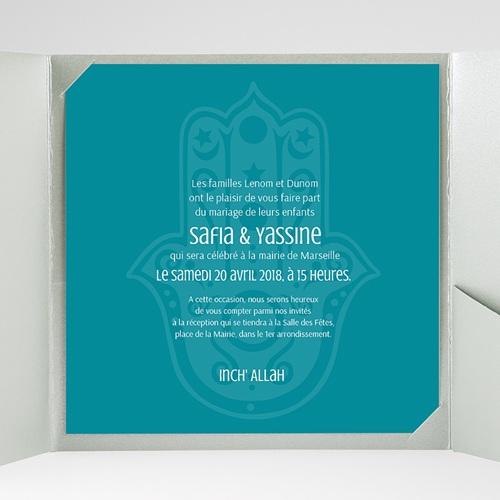 Faire-Part Mariage Pochette carré - Kashmir 37934 thumb