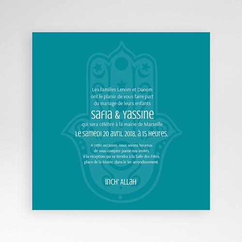 Faire-Part Mariage Pochette carré - Kashmir 37935 thumb
