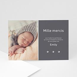 Carte remerciement naissance fille 1000 mercis