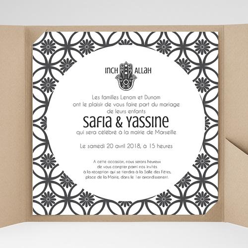 Faire-Part Mariage Pochette carré - Ispahan 37956 preview