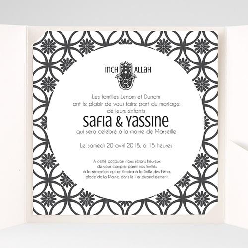 Faire-Part Mariage Pochette carré - Ispahan 37957 preview