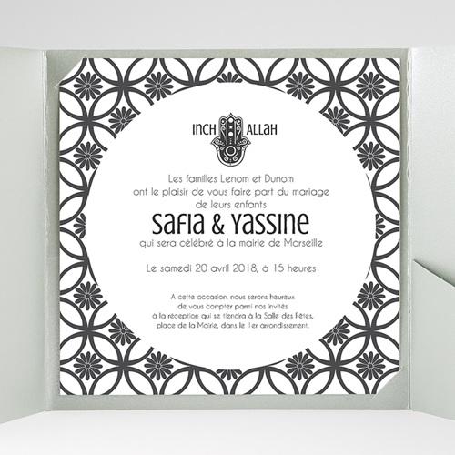 Faire-Part Mariage Pochette carré - Ispahan 37958 preview