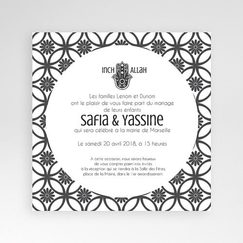 Faire-Part Mariage Pochette carré - Ispahan 37959 preview