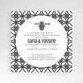Faire-Part Mariage Pochette carré - Ispahan 37959 thumb