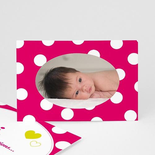 Remerciements Naissance Fille - Petits Pois Blancs 3798