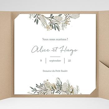 Faire part de mariage pochette carré marions-nous ! sans photo