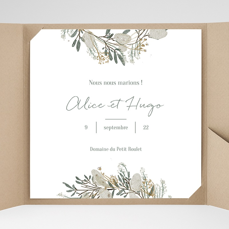 Faire-Part Mariage Pochette carré - Marions-nous ! 38069 thumb