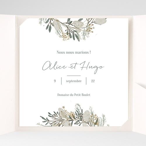 Faire-Part Mariage Pochette carré - Marions-nous ! 38070 thumb