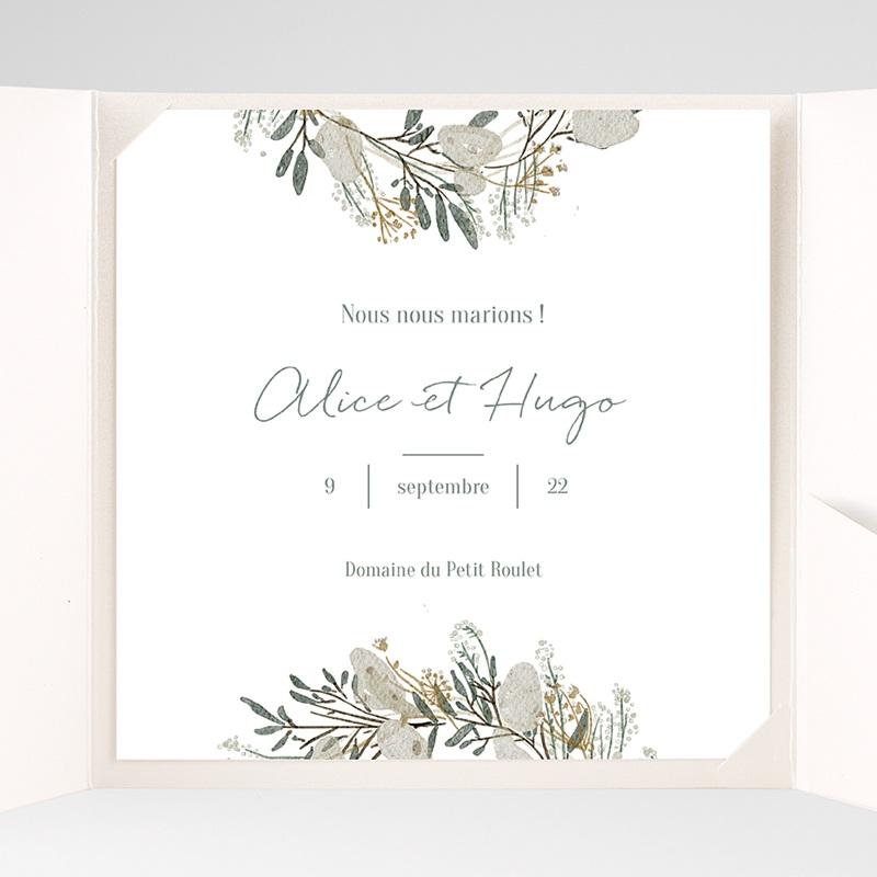 Faire-Part Mariage Pochette carré Marions-nous ! pas cher