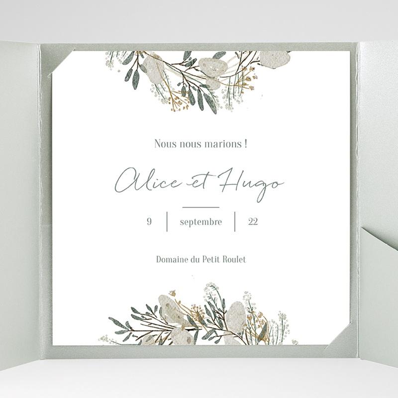 Faire-Part Mariage Pochette carré Marions-nous ! gratuit