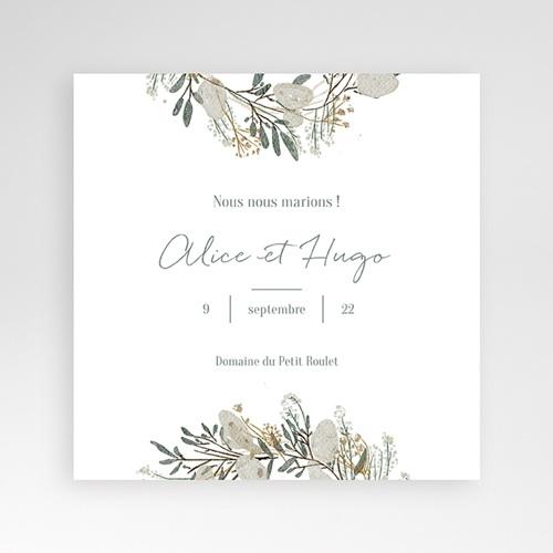 Faire-Part Mariage Pochette carré - Marions-nous ! 38072 thumb