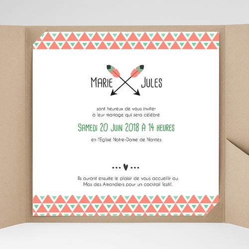 Faire-Part Mariage Pochette carré - Cupidon 38093 thumb