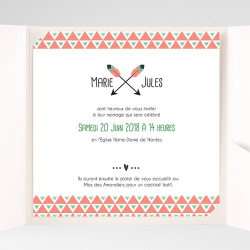 Faire-Part Mariage Pochette carré - Cupidon 38094 preview
