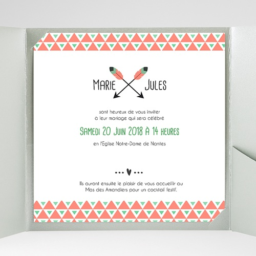 Faire-Part Mariage Pochette carré - Cupidon 38095 preview