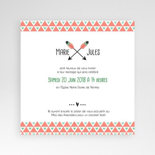 Faire-Part Mariage Pochette carré - Cupidon 38096 thumb
