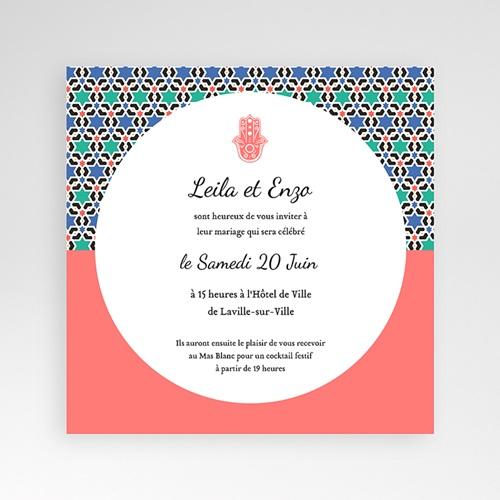 Faire-Part Mariage Pochette carré - Oriental Style 38140 thumb