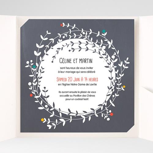 Faire-Part Mariage Pochette carré - L'amour couronné 38162 preview